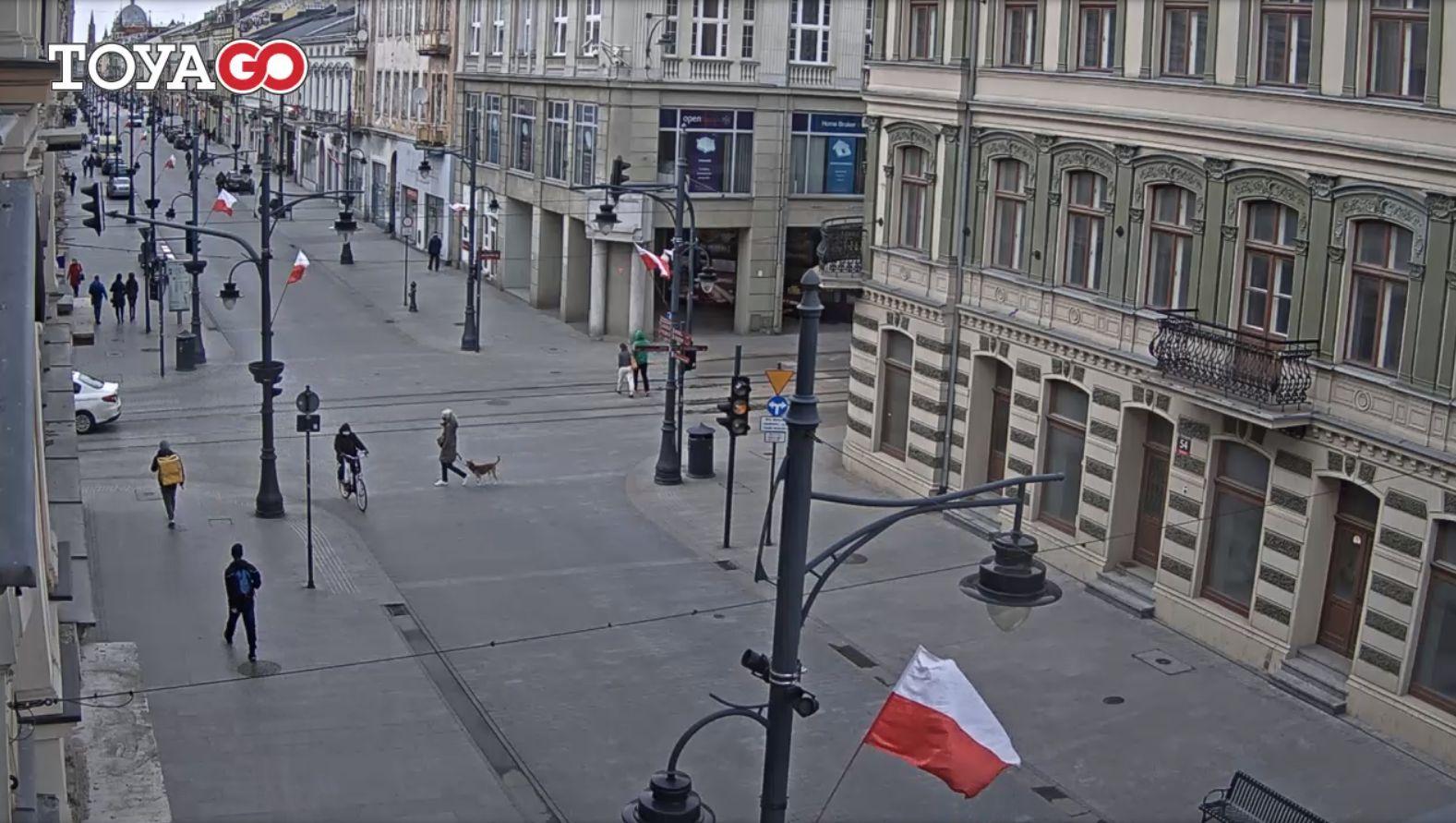 Łódź, ul. Piotrkowska – ul. Narutowicza