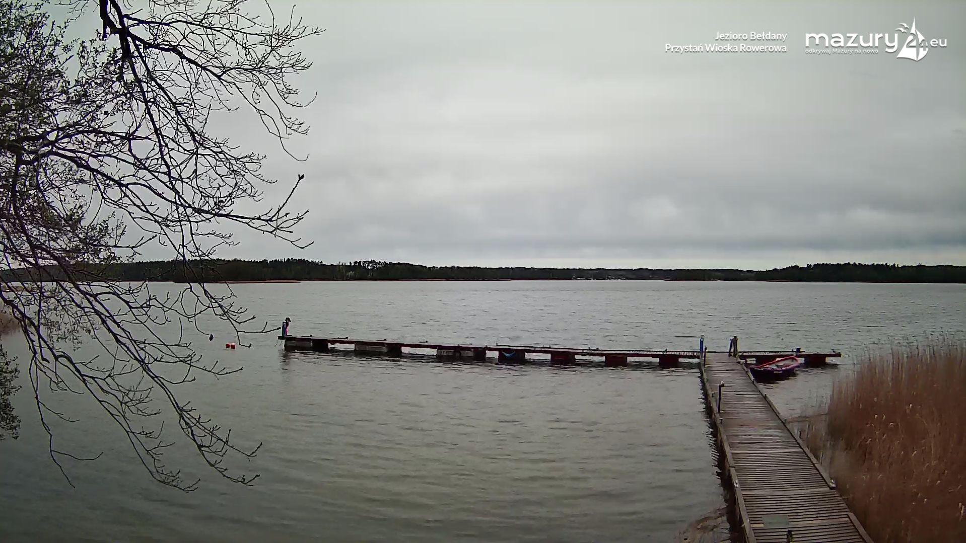 Jezioro Bełdany, przystań Wioska Rowerowa