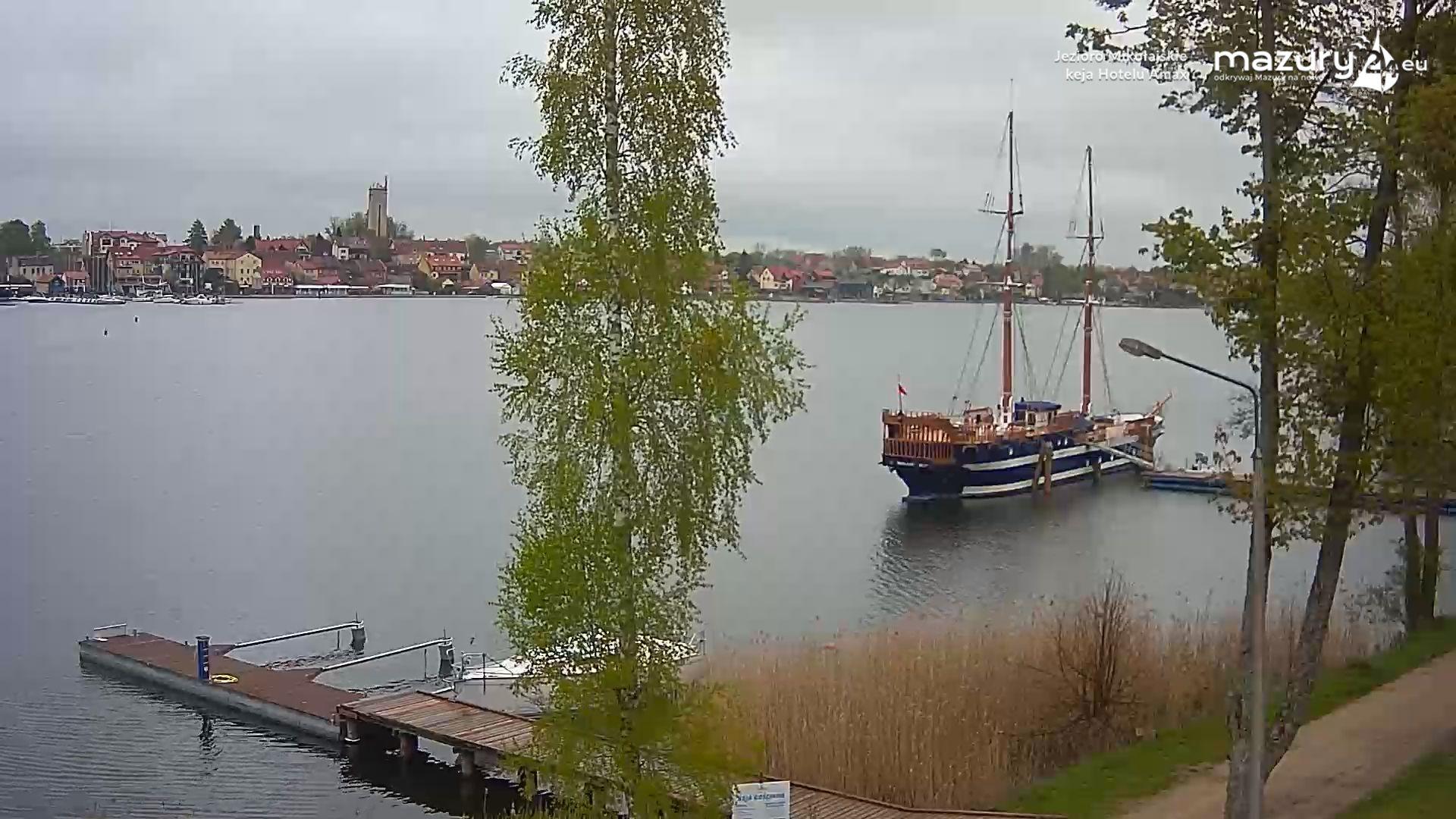 Jezioro Mikołajskie, keja Hotelu Amax