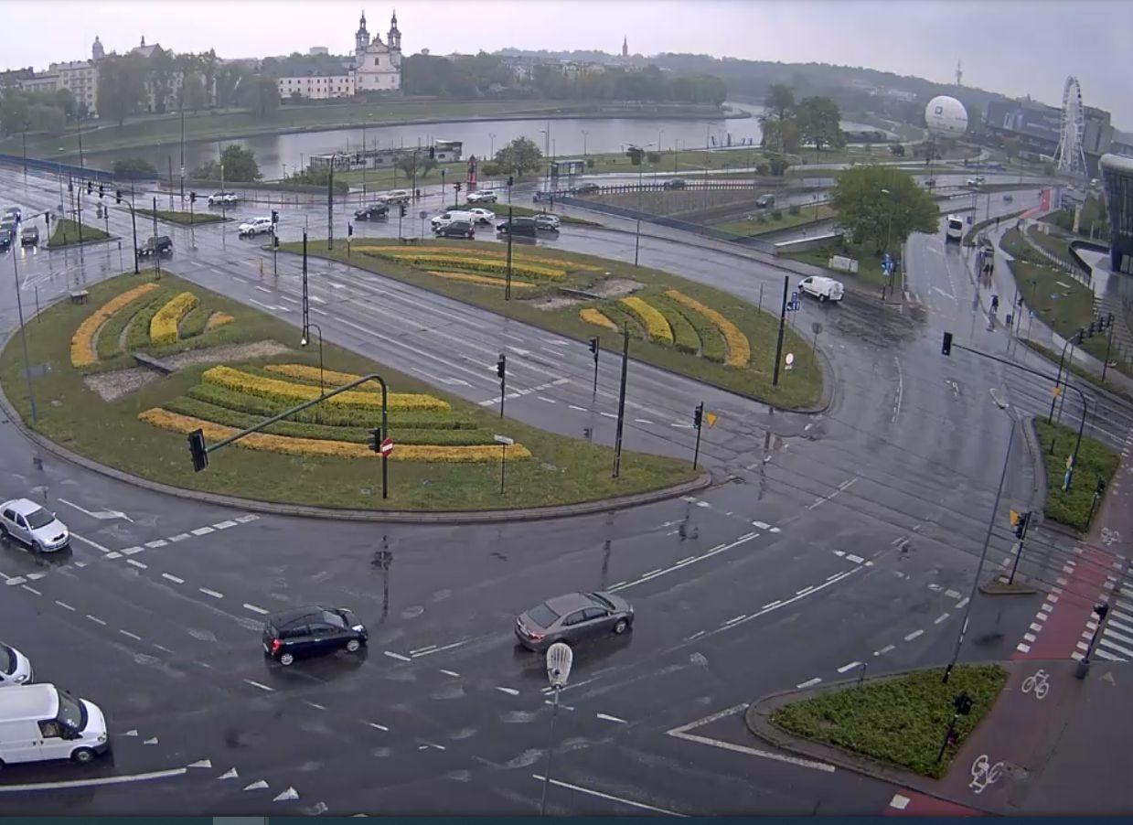 Kraków, rondo Grunwaldzkie