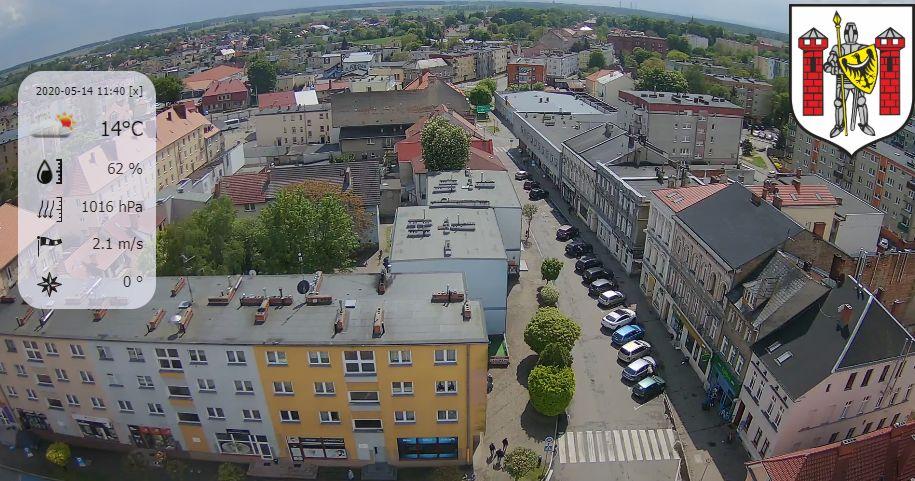 Sulechów, południowa panorama miasta