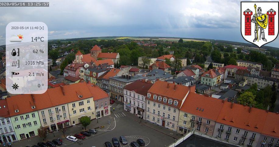 Sulechów, zamek i rynek